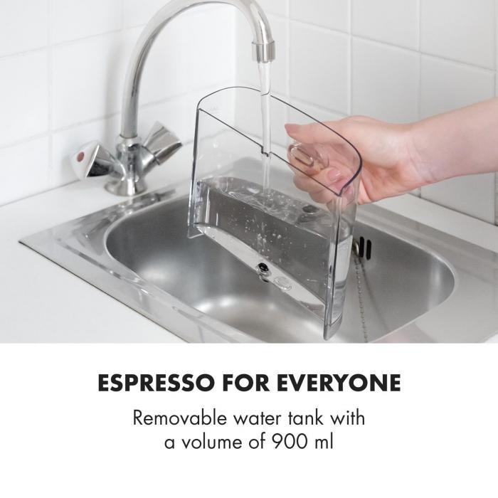 BellaVita Espresso espressokeitin 20 bar 1575 W 900 ml hopeanvärinen