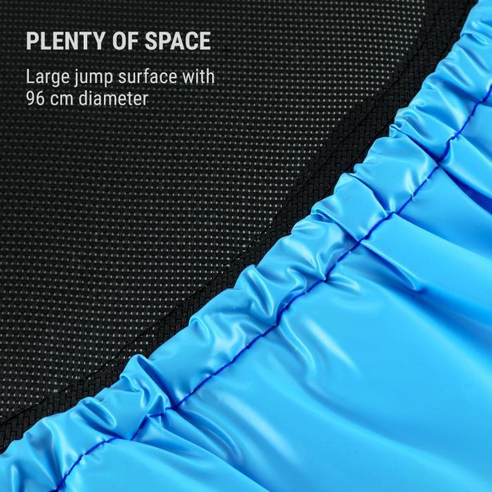 Rocketbaby Trampoline Ø96cm Polypropylene Up to 100kg Powder Coated Blue