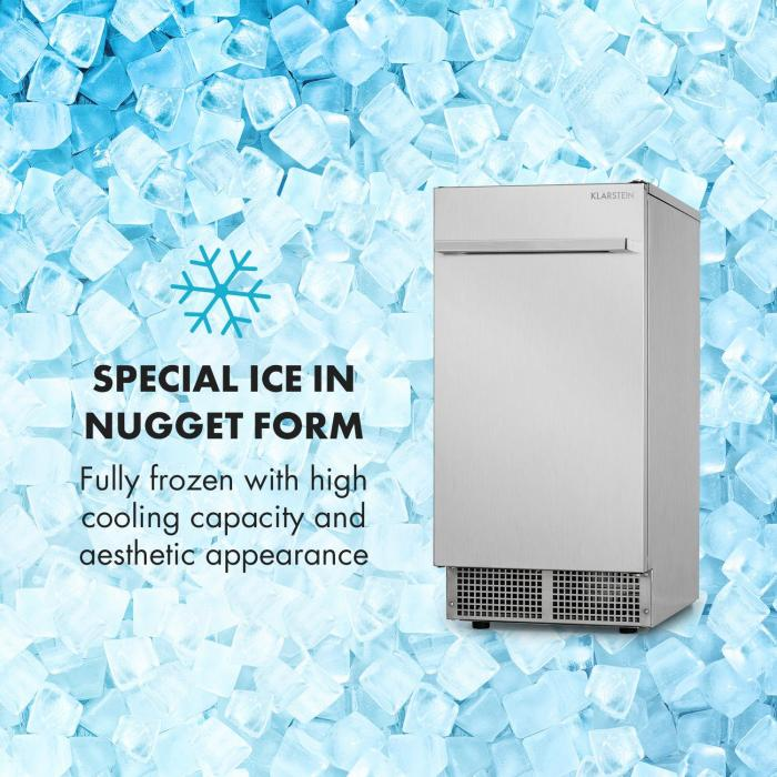 Icetender Ice Maker Nuggets 30kg / 24h Stainless Steel Silver