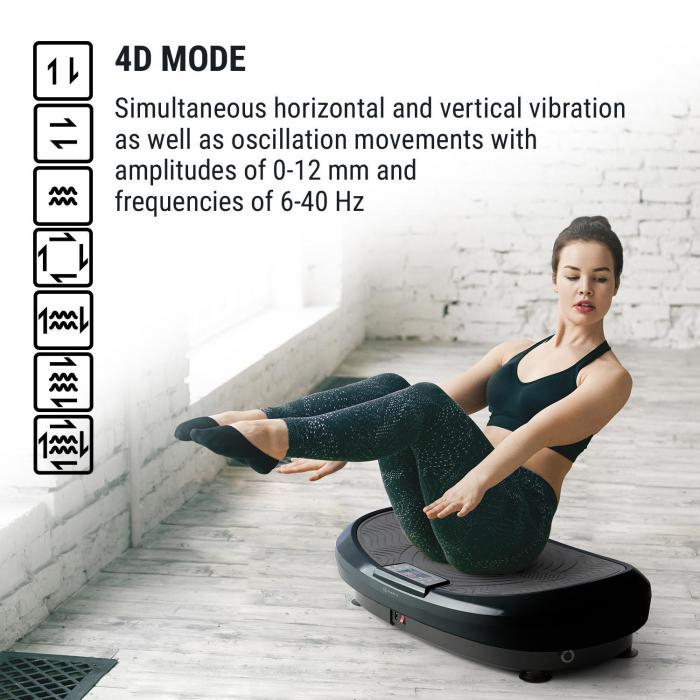 VIBE 4DX Vibration Plate, 440 W, 10 Modes, 4DX TripleMotor, Grey