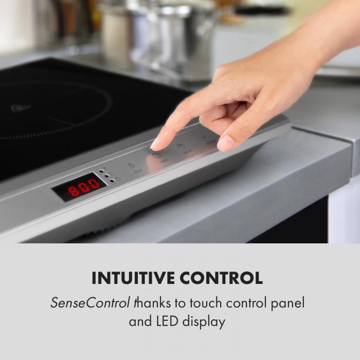 MisterCook Duo piano cottura a infrarossi 3000W 90-650°C timer di spegnimento argento