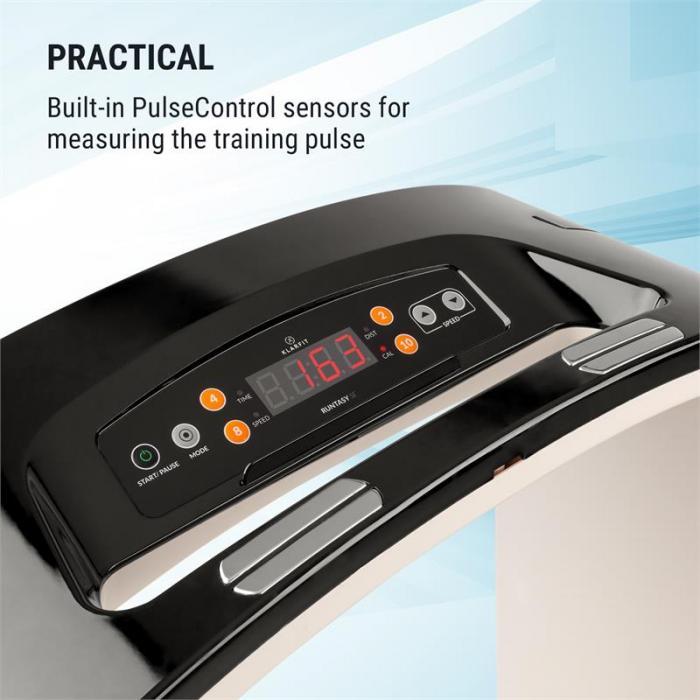 Runtasy SE Laufband Heimtrainer LED-Display Bluetooth klappbar schwarz
