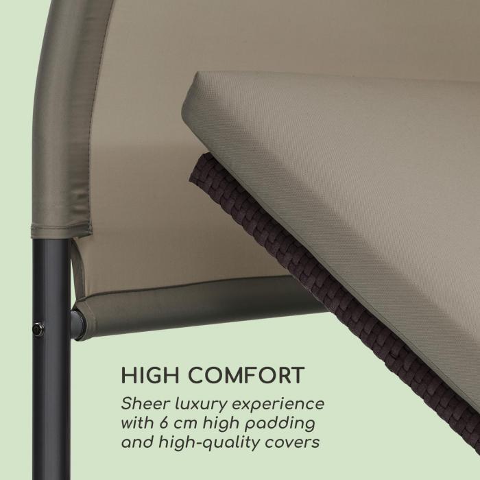 Eremitage Double Lounger lettino da sole per 2 persone in alluminio/rattan grigio