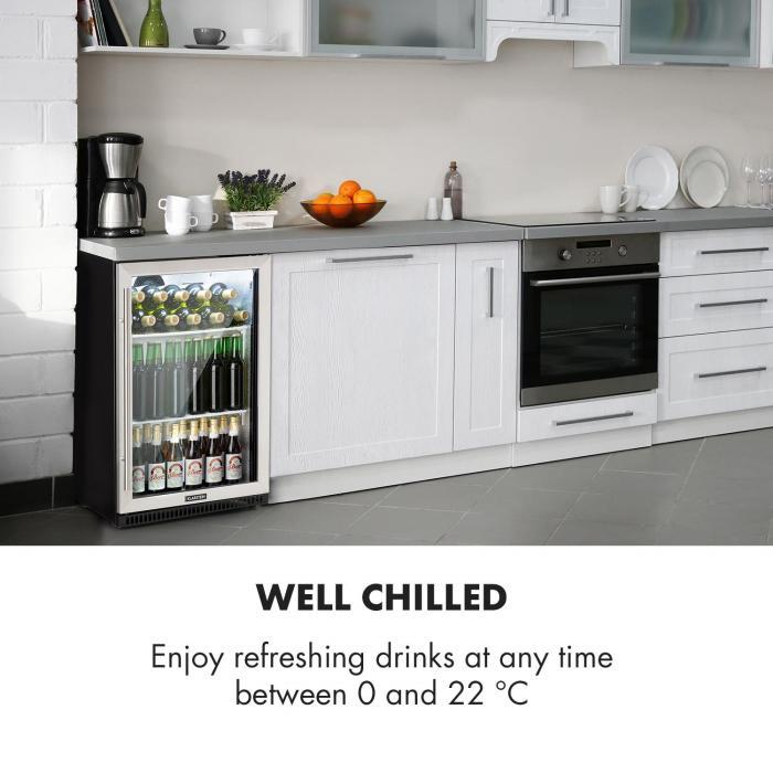 Beersafe Pro frigorifero 133 l porta in vetro 2 ripiani nero