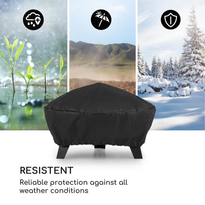 Nolana copertura in nylon 600D resistente all'acqua nero