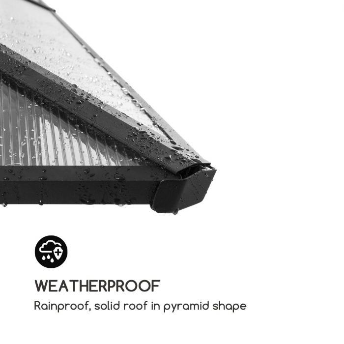 Pantheon Solid Sky gazebo con tetto 3x3m policarbonato alluminio