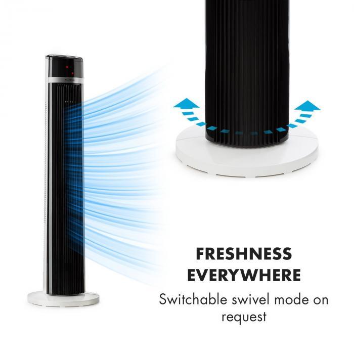 IceTower Standventilator 36 Watt Timer 3 Modi Fernbedienung weiß
