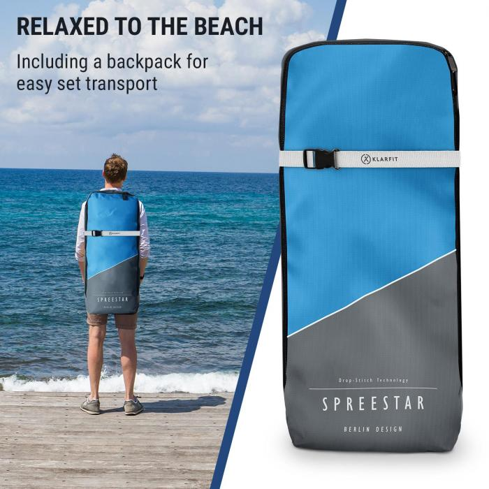 Spreestar aufblasbares Paddelboard SUP-Board-Set 305x10x77 blau