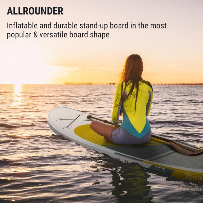 Kauai Flow Inflatable Paddle Board SUP Board Set DoubleLayer 305x10x77