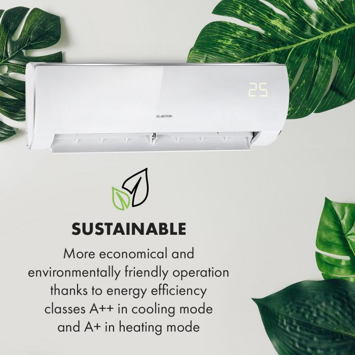 Windwaker Eco Split Air Conditioner 610 m³ / h 9,000 BTU / h (2637W) A ++