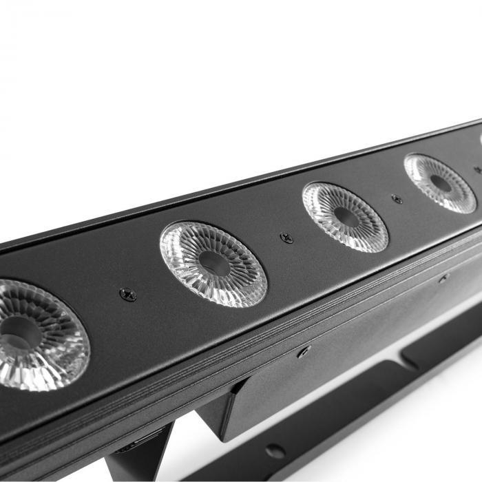 Professional LCB145 LED Bar 12x8W RGBW-LEDs Dimmer schwarz