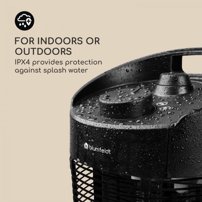 Heat Guru 360 XL 1200W Heater IPX4 Black