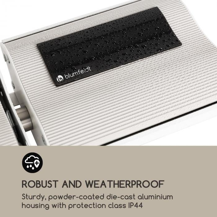 CosmicBeam Plus XXL IR Heater 3000W IP44 Remote Control White