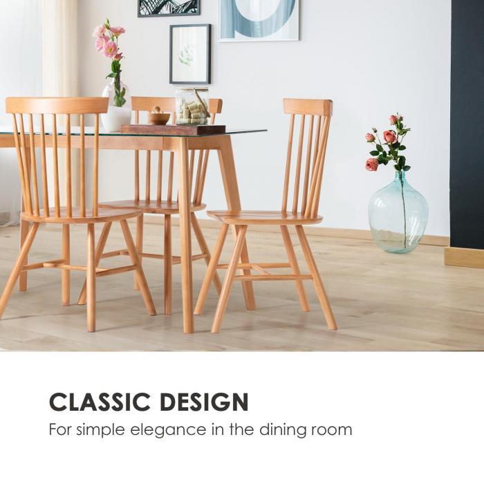 Svenson Tavolo con Piano in Vetro Faggio 120 x 75 x 70 cm legno
