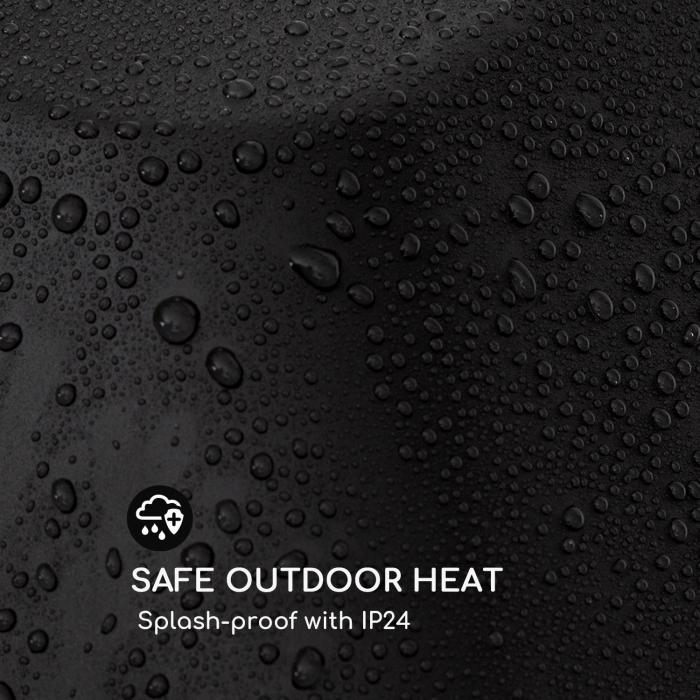 Heat Square Slim infrapunalämmitin 2000 W IR ComfortHeat IP24 LED