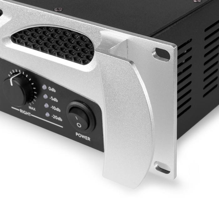 FPA600 Wzmacniacz nagłośnieniowy 2 x 300 W funkcja Bluetooth odtwarzacz multimedialny LED USB SD