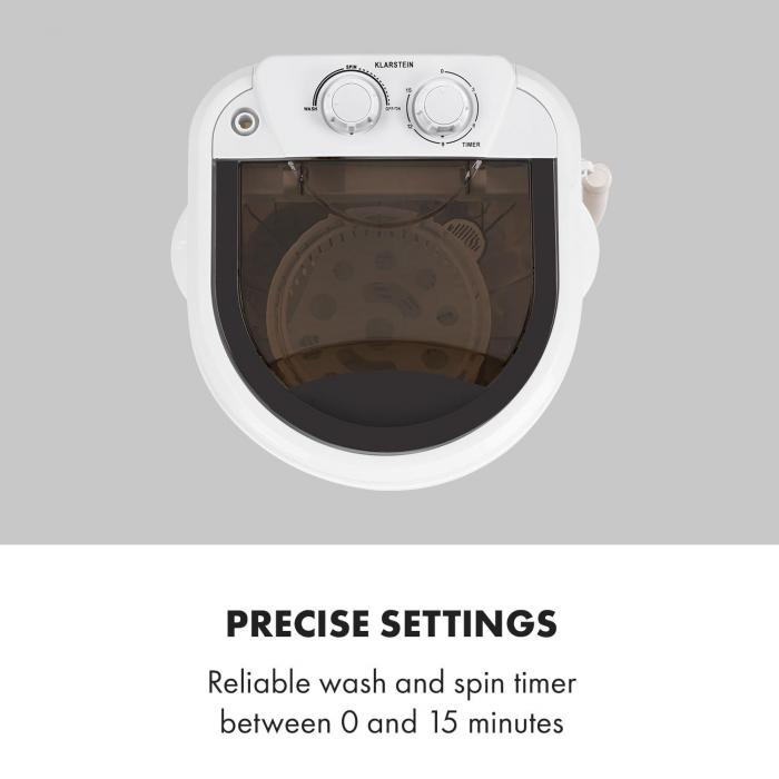 Dash Duo pyykinpesukone 180 W 2,5 kg ajastin 0-15 min. kenkäharja musta