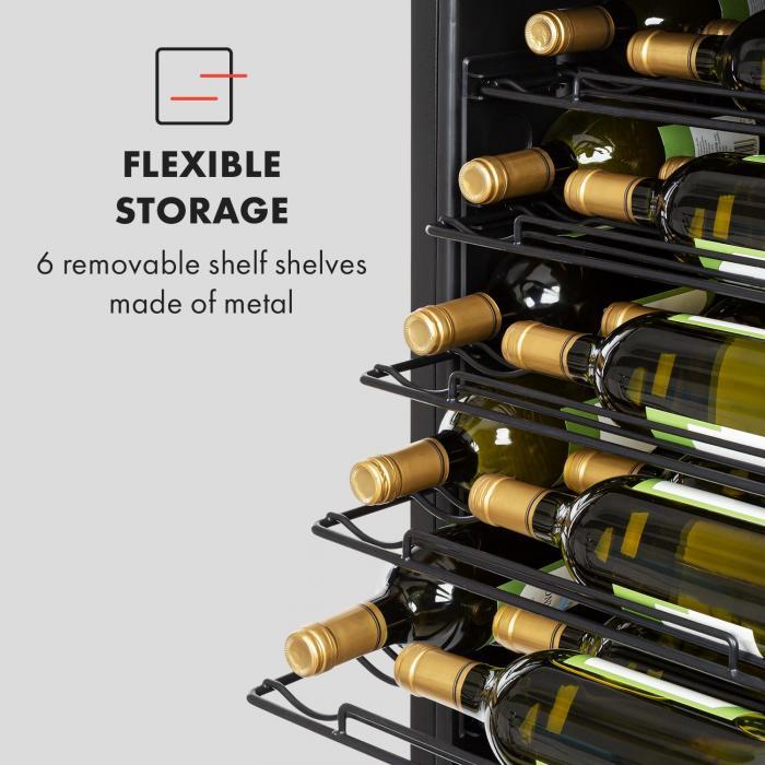 Vinomatica Weinkühlschrank 95l Touch-Bedienfeld 85W 4-18°C schwarz