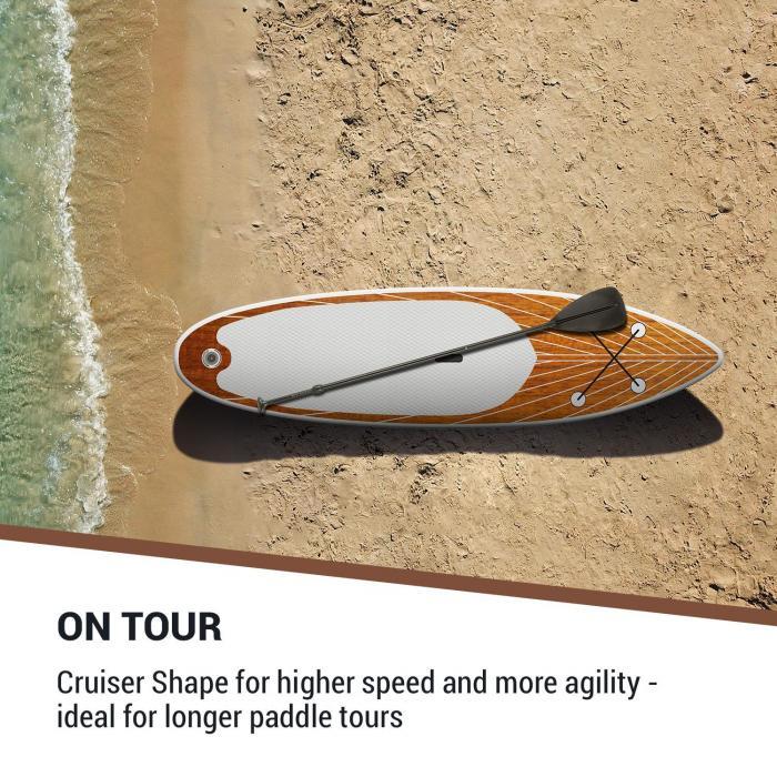 Downwind Cruiser S opblaasbaar paddleboard complete set 305x10x77