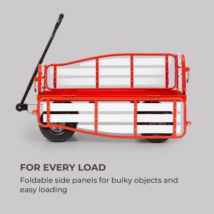 Ventura carretto a mano carichi pesanti 300 kg acciaio WPC rosso