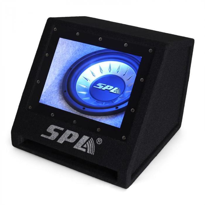 "SPL 25cm (10"") Bassbox Subwoofer LED Valoefekti 500W Auto"