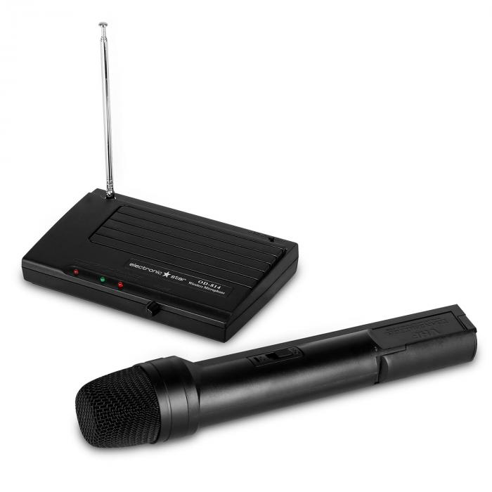 Wireless VHF Microphone System with Compact Receiver