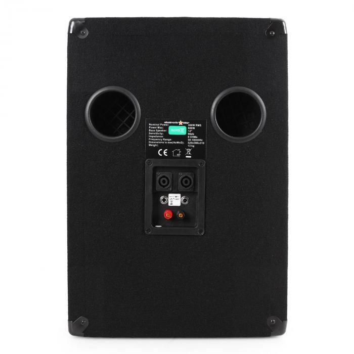 DJ PA Sound System Rack Star Series Mercury Beat Set 250 people