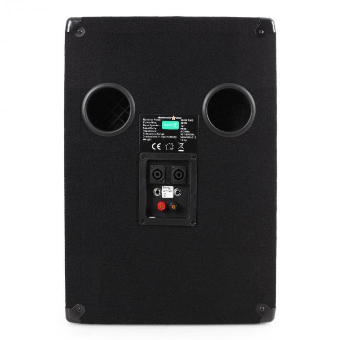 Auna 2.2 Passive PA Speaker Package, Bass Bin Woofers & Speakers