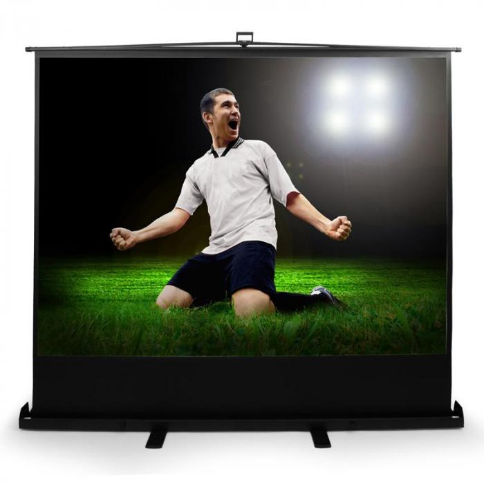 "QSFC-86"" Boden-Leinwand 172x130cm ausziehbar Heimkino HDTV 218cm"