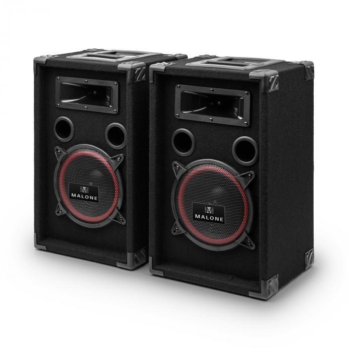 "DJ PA Set ""DJ-14"" BT, PA Amplifier, BT Mixer, 2 x Speakers, Karaoke Mic"