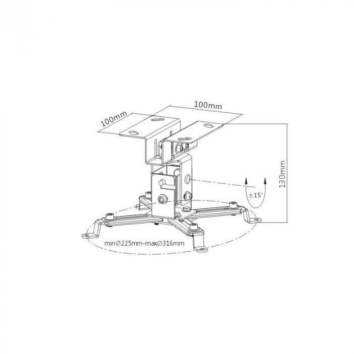 Universal Projektori Kattokiinnitys Kiinnike Varsi PRB-2