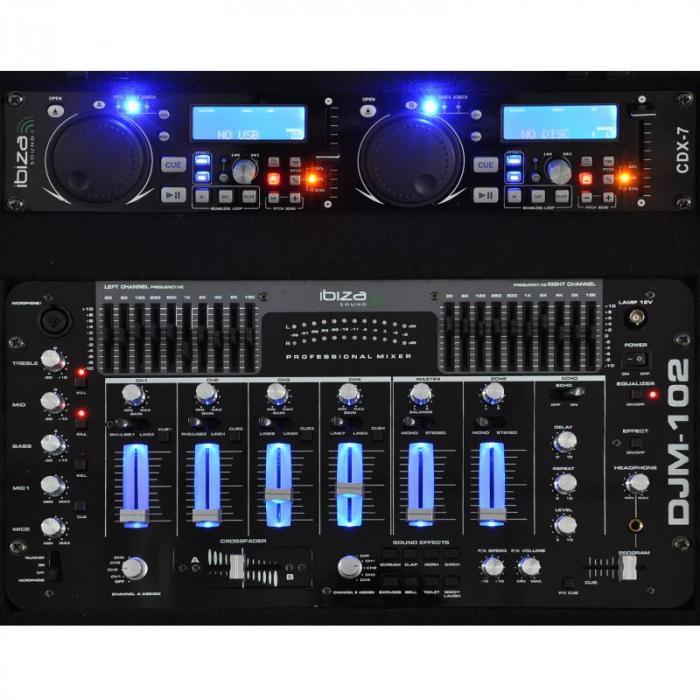 DJ- PA-setti Rack Star Terra Titan 2000W 400 henkilöä