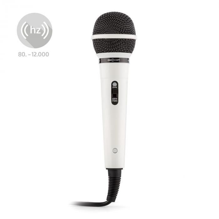 Valkoinen puhe- ja laulumikrofoni Auna