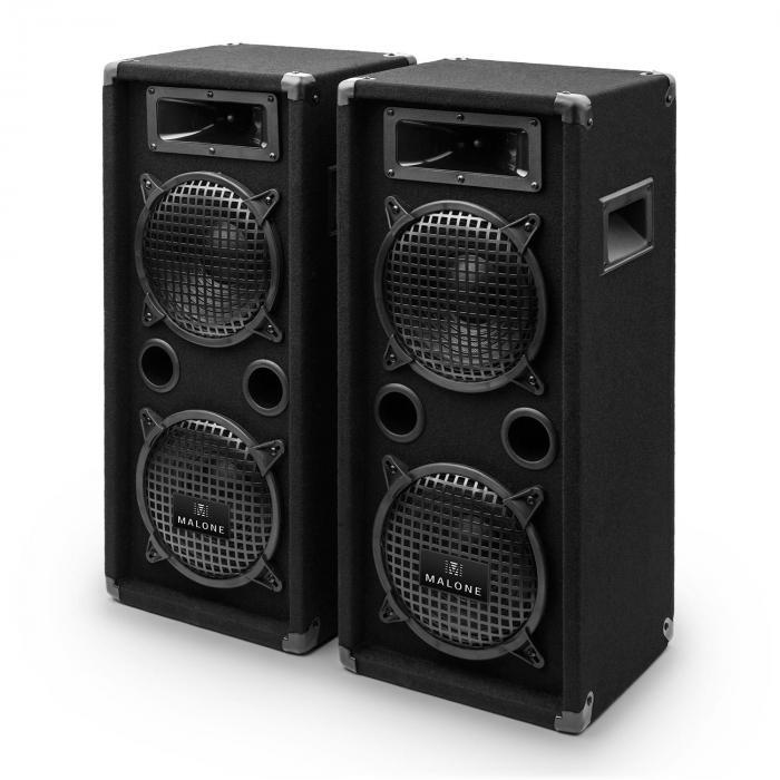 "PW-08X22 PA-Lautsprecher-Paar 2x20cm (8"") 1600W PA-Box 2 Etagen"