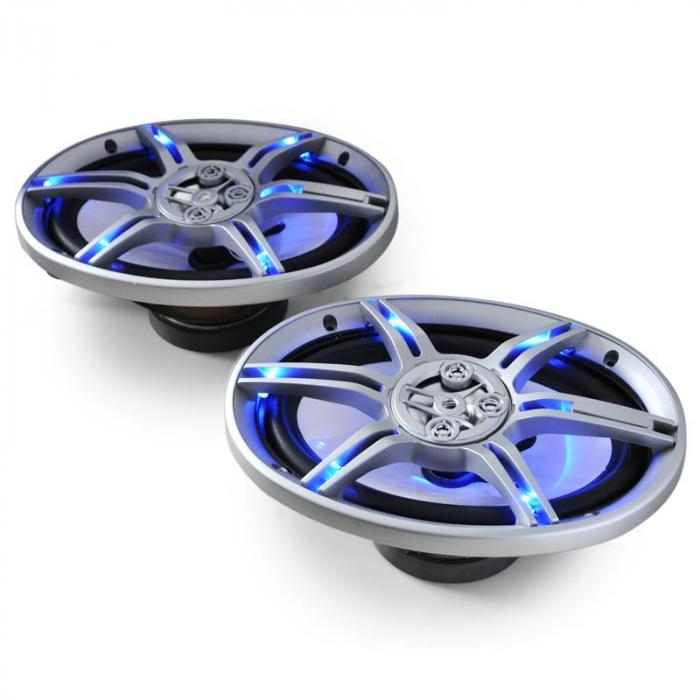 "CS-LED69 Blue LED 6x9"" Inch Car Audio Speakers 2x500W max. Pair"