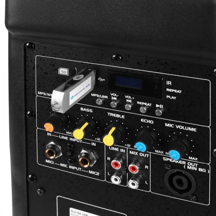"SLK12-A Cassa attiva PA 30cm (12"") 700W USB SD MP3"
