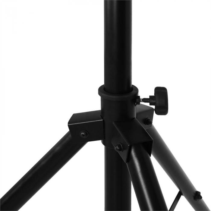 LTS-209LS Mobile DJ Light Rig Crossbeam Lighting Stand System 120kg Max - Black