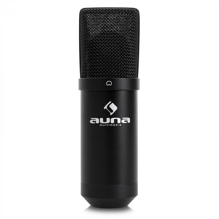 MIC-900B USB set de micrófonos V1 micrófono condensadornegro soporte de mesa