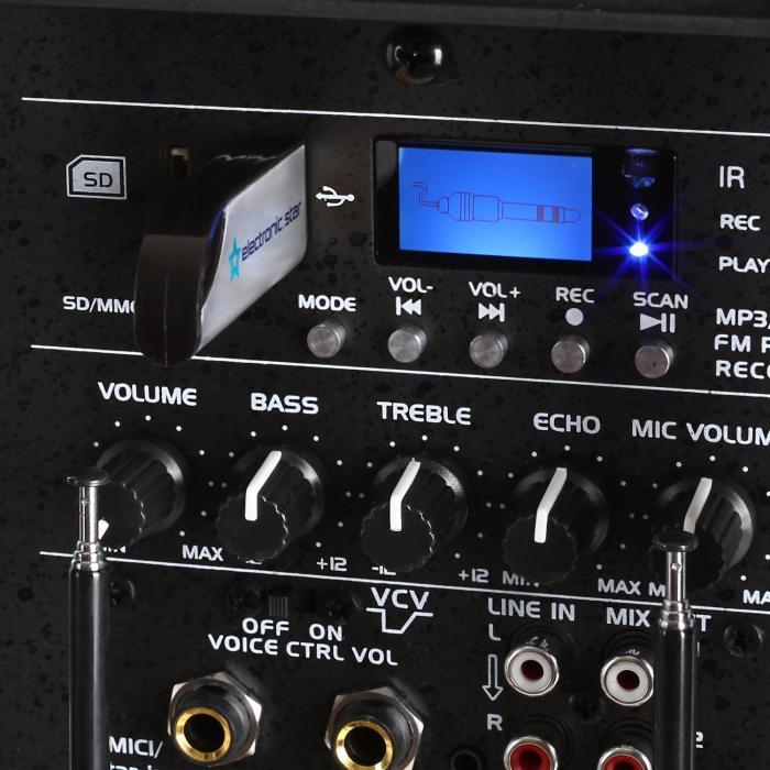 "Port12VHF-BT 30cm (12"") PA-Anlage schwarz USB SD AUX MP3 Bluetooth"