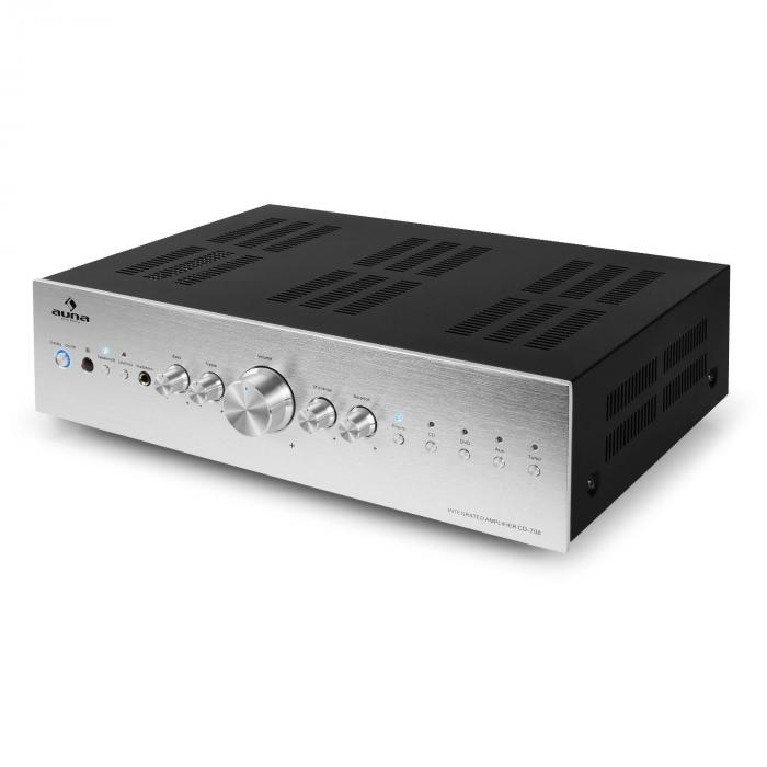 CD708 amplificatore stereo AUX Phono 600W argento