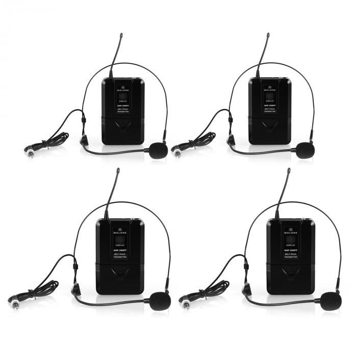 UHF-550-2 Quartett2 Set radiomicrofoni UHF 4 canali