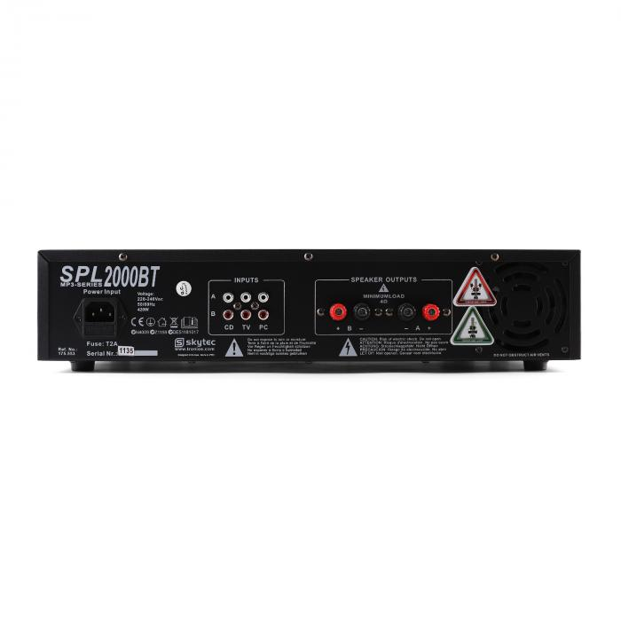 "2000W PA 'Malone SPL Bluetooth MP3' Pair of 2 x 15"" Speaker & Amplifier Set"