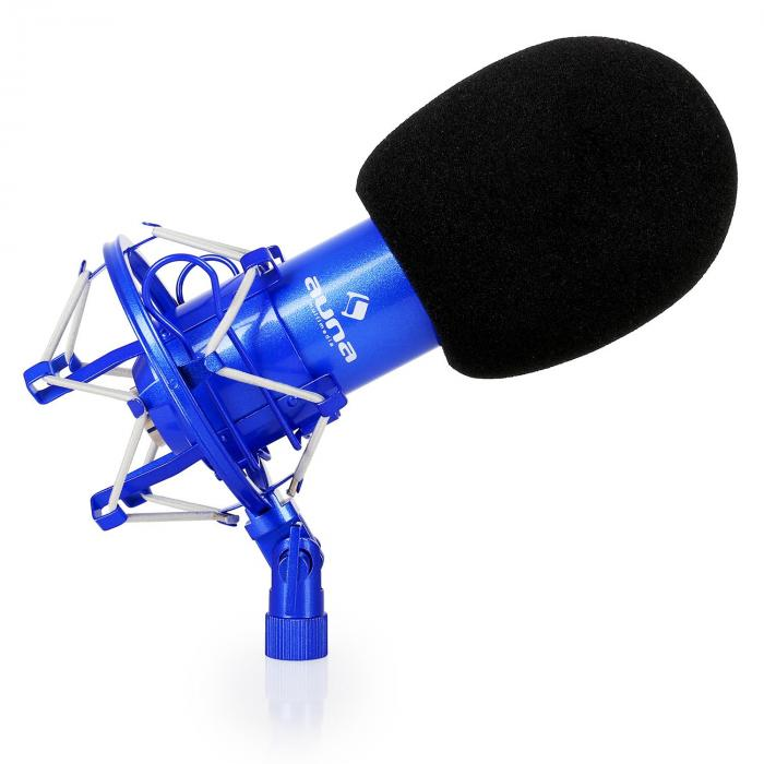 CM001BG Microphone Set V4 Condenser Microphone Arm POP-Shield blue