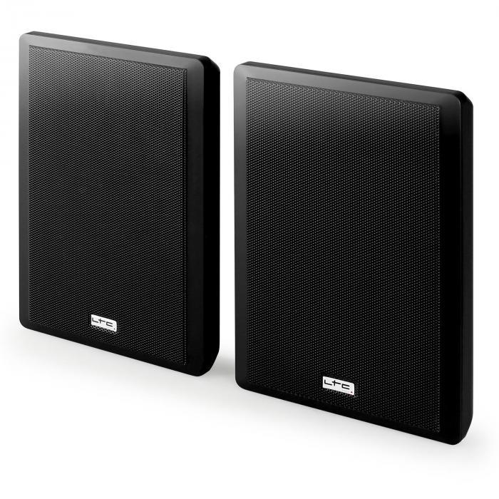 SSP501F-W extra-litteä 2-tie-seinäkaiutin-pari musta