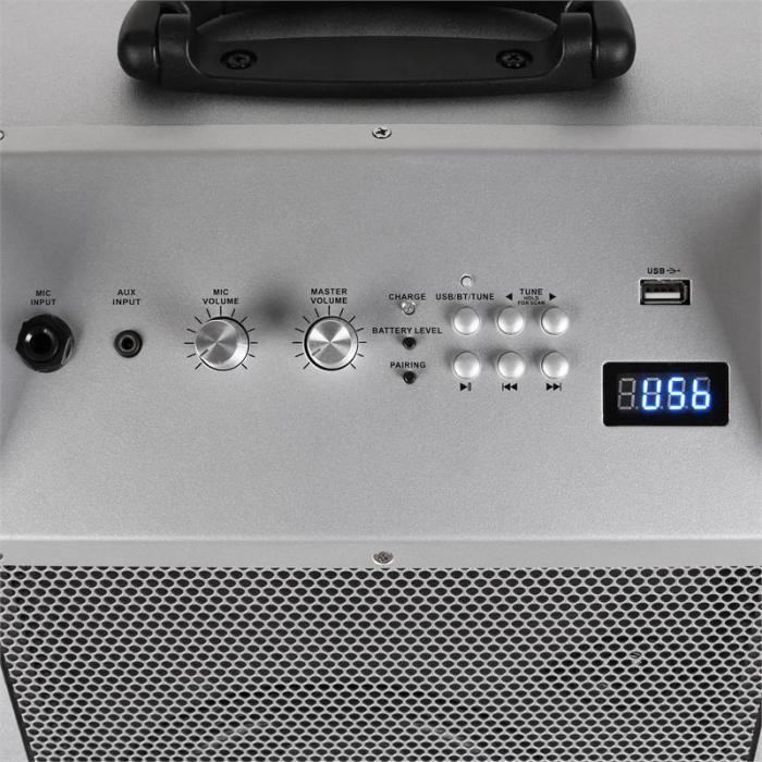 Blockstar mobiele PA-installatie & auna VHF draadloze microfoons wit