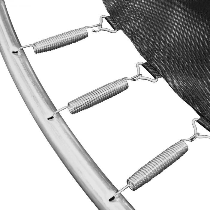 Rocketstart XXXL Trampolin 400cm Sicherheitsnetz Aluleiter Regencover