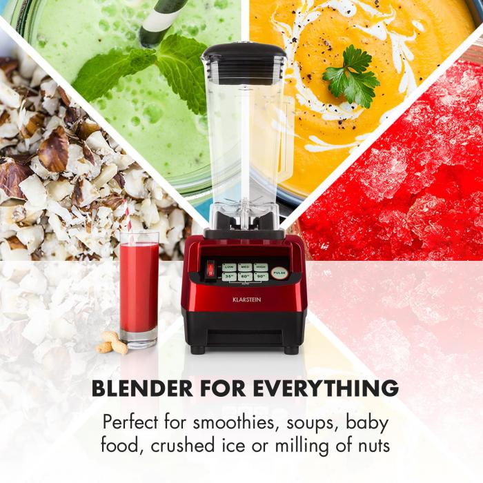 Herakles 5G frullatore da tavolo blender 1500 W senza BPA rosso