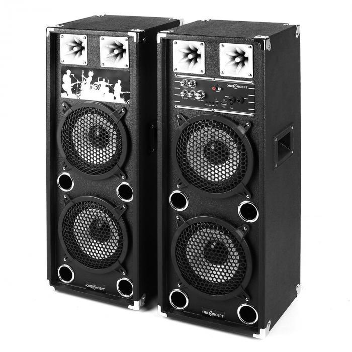 "Set Karaoke ""STAR-28A"" Pack enceintes actives sono & set micros 2 canauxsans f"