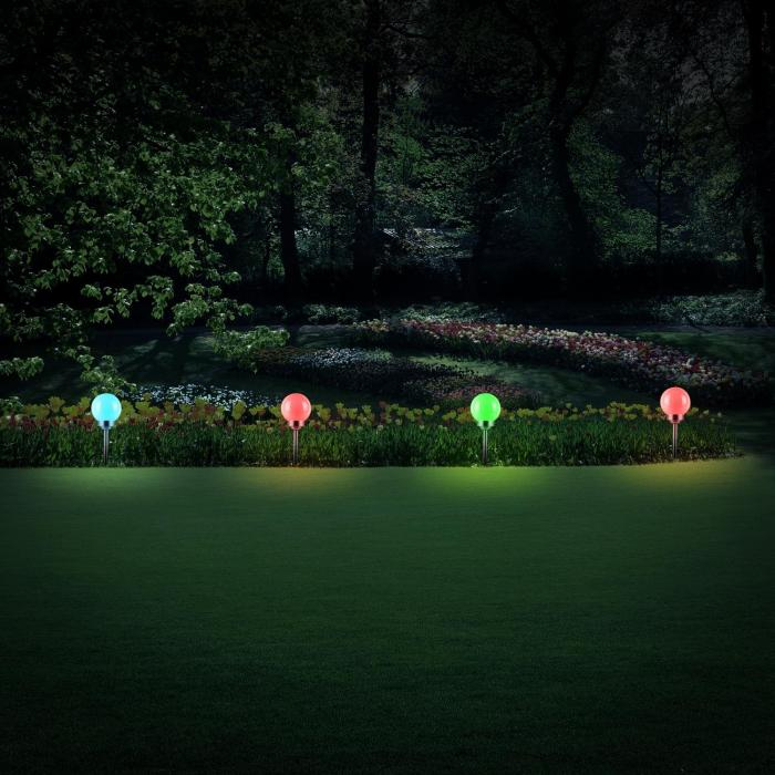 LED Flower Solar Garden Lights 20cm 4 RGB-L
