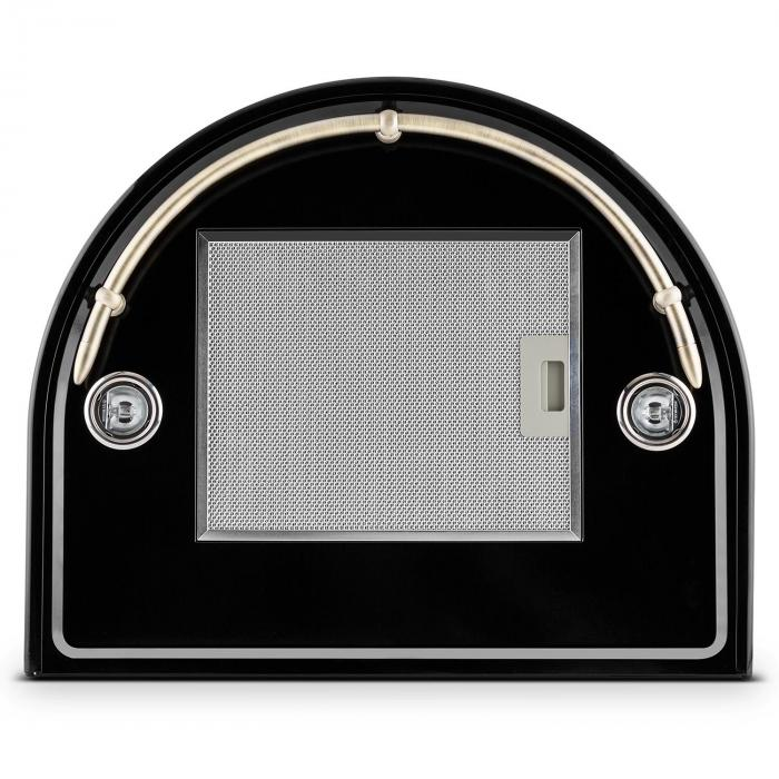 Noir Retro cooker hood 60 cm stainless steel black